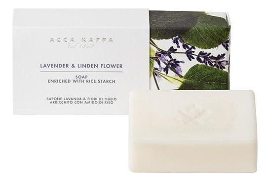 Купить Твердое туалетное мыло Лаванда и липовый цвет Lavender & Linden Flower Soap 150г, Твердое туалетное мыло Лаванда и липовый цвет Lavender & Linden Flower Soap 150г, Acca Kappa