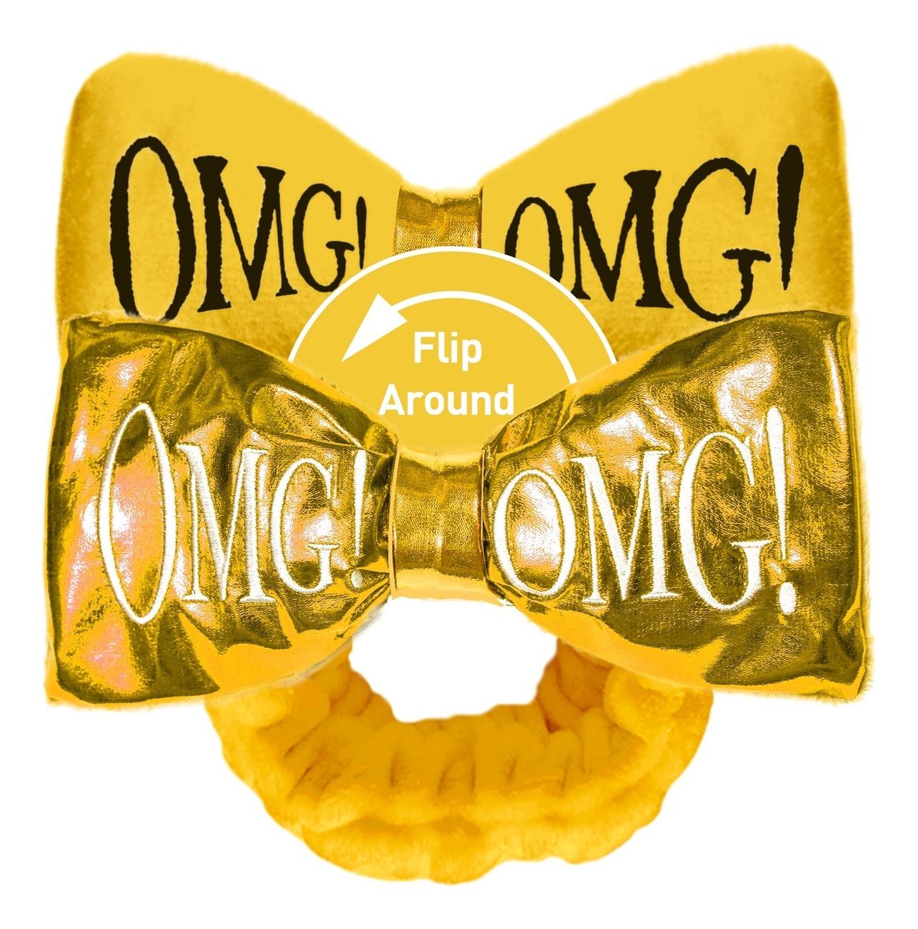 Купить Повязка для волос двухсторонняя Reversible Mega Hair Band: Yellow, Double Dare OMG!