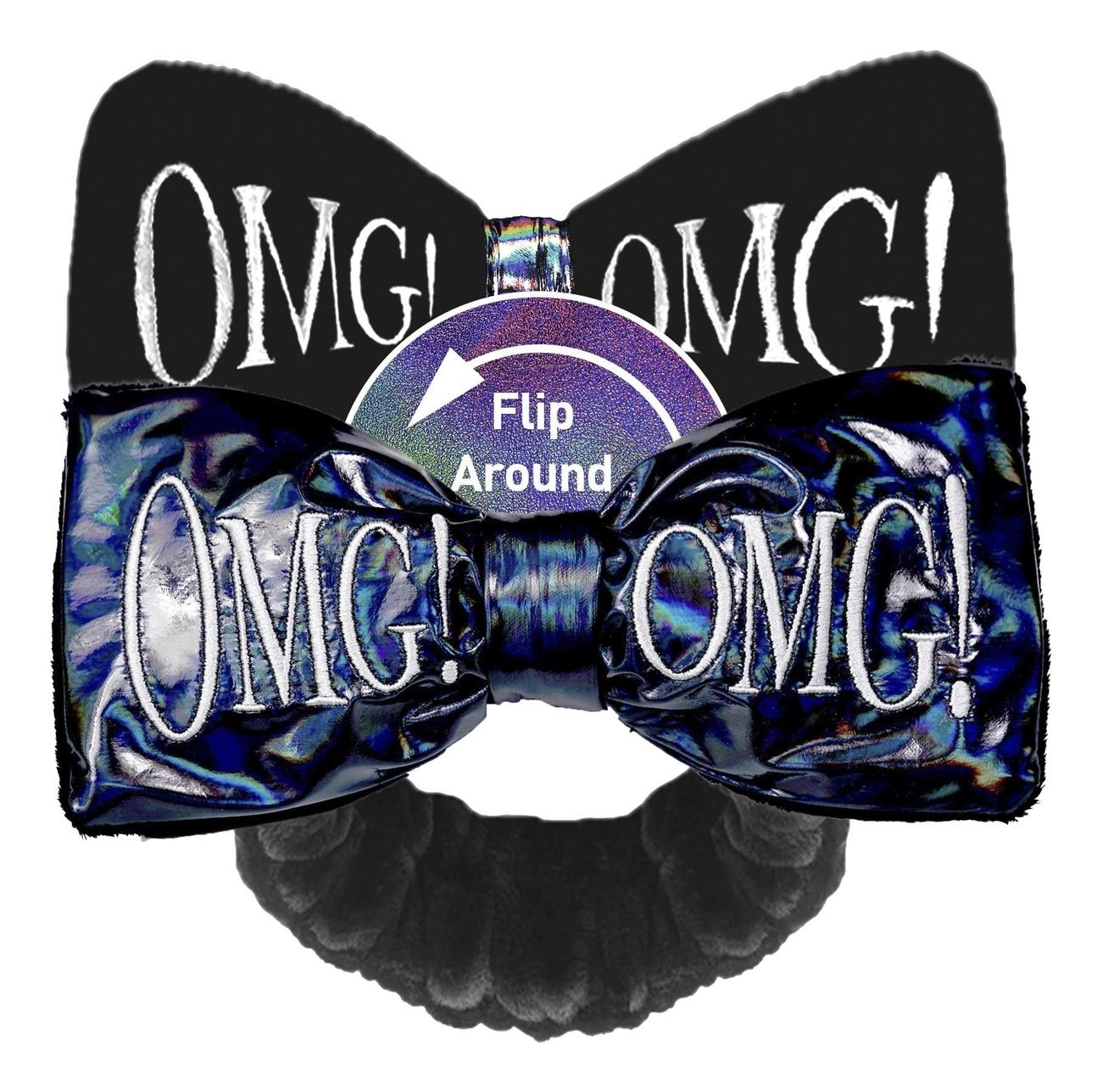 Купить Повязка для волос двухсторонняя Reversible Mega Hair Band: Black, Double Dare OMG!