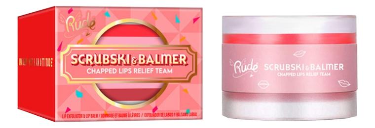 Купить Скраб и бальзам для губ Scrubski & Balmer Lip Exfoliator And Lip Balm 4г: Juicy Peach, Скраб и бальзам для губ Scrubski & Balmer Lip Exfoliator And Lip Balm 4г, Rude