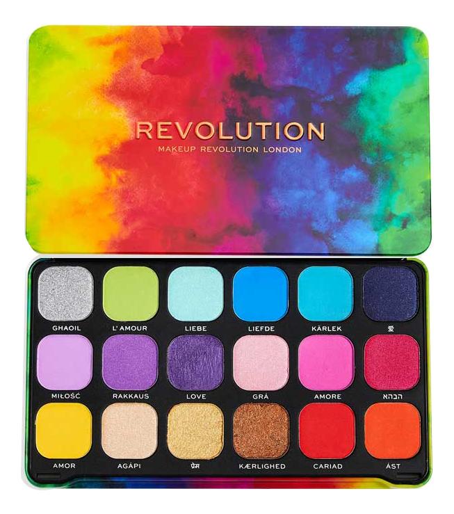 Купить Палетка теней для век Forever Flawless 19, 8г: We Are Love, Makeup Revolution