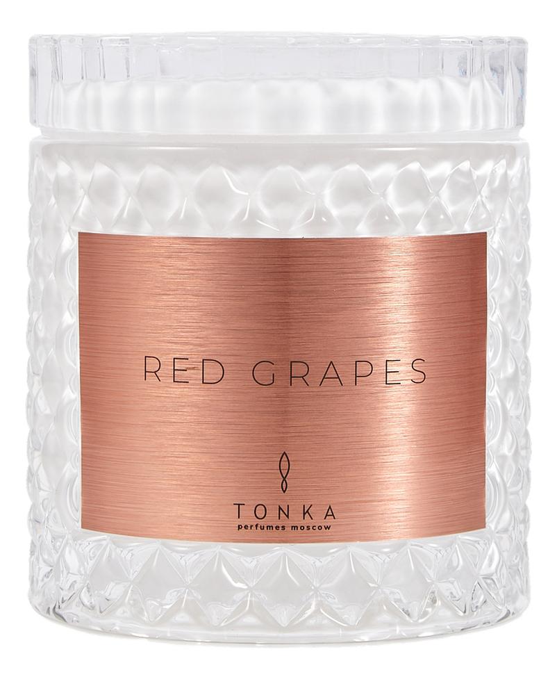 Купить Ароматическая свеча Red Grapes: свеча 220г, Tonka Perfumes Moscow