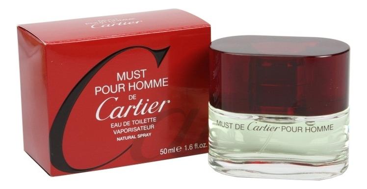 цена Cartier Must Pour Homme: туалетная вода 50мл онлайн в 2017 году