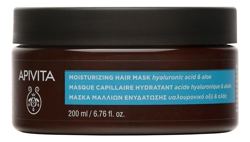 Купить Увлажняющая маска для волос с гиалуроновой кислотой и алоэ Moisturizing Hair Mask Hyaluronic Acid & Aloe: Маска 200мл, Увлажняющая маска для волос с гиалуроновой кислотой и алоэ Moisturizing Hair Mask Hyaluronic Acid & Aloe, APIVITA
