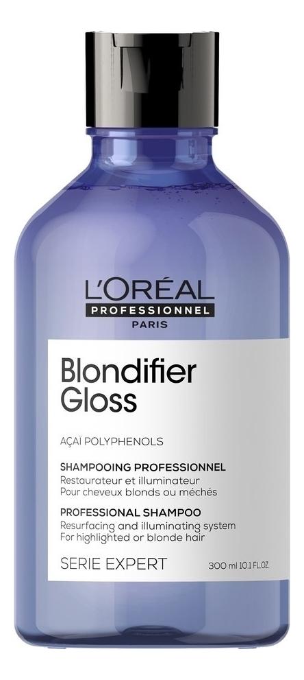 Купить Шампунь для сияния волос Serie Expert Blondifier Gloss Shampoo 300мл, L'Oreal Professionnel