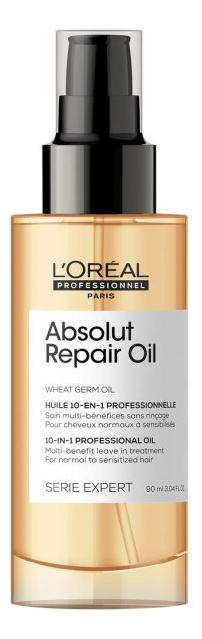 Купить Многофункциональное масло-уход для волос 10 в 1 Serie Expert Absolut Repair Wheat Germ Oil 90мл, L'Oreal Professionnel