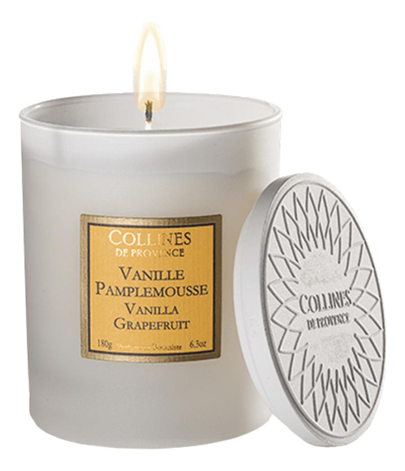 Купить Ароматическая свеча Vanilla-Grapefruit (ваниль и грейпфрут): свеча 180г (старый дизайн), Collines de Provence