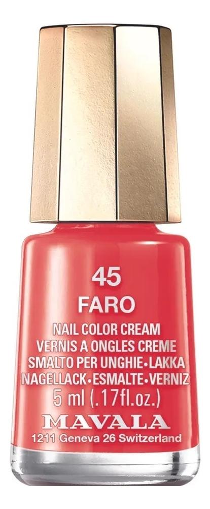 Фото - Лак для ногтей Nail Color Cream 5мл: 45 Faro лак для ногтей nail color cream 5мл 187 roma