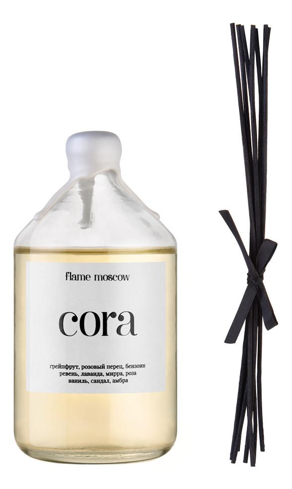 Купить Диффузор с ротанговыми палочками Cora: Диффузор 220мл, Flame Moscow