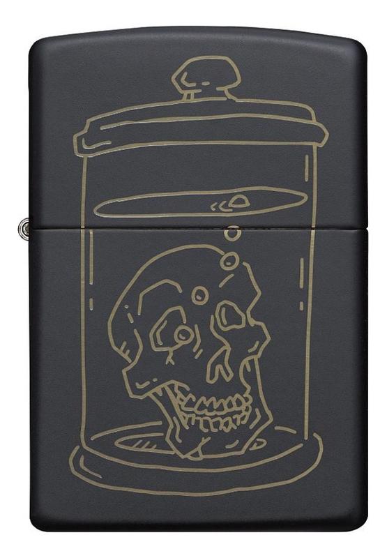 Купить Зажигалка бензиновая Skull Design 49575, Zippo