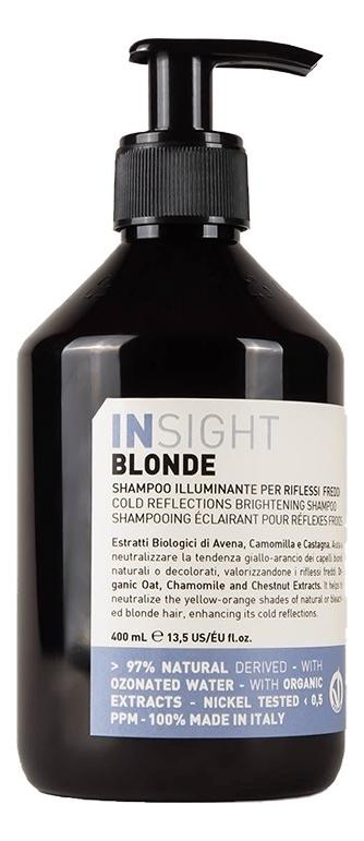 Купить Шампунь для поддержания холодных оттенков Blonde Cold Reflections Brightening Shampoo: Шампунь 400мл, INSIGHT