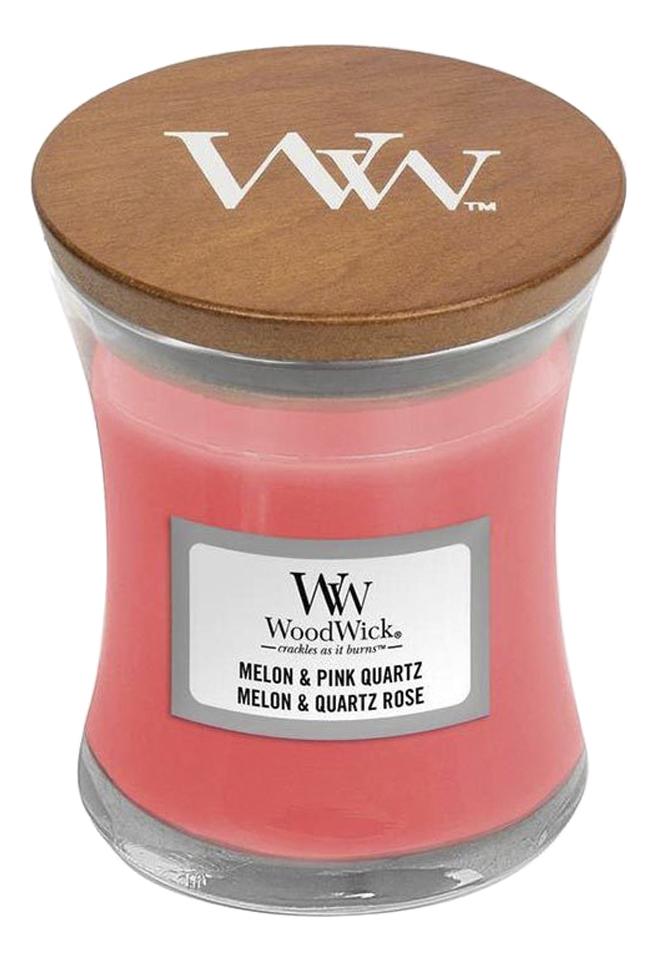 Купить Ароматическая свеча Melon & Pink Quartz: свеча 85г, Ароматическая свеча Melon & Pink Quartz, WoodWick