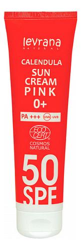 Солнцезащитный крем для лица и тела с гидролатом календулы Calendula Sun Cream Pink 0+ 100мл: Крем SPF50+ питательный солнцезащитный крем комфорт для лица sun secure invisible finish comfort cream spf50 50мл