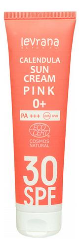 Купить Солнцезащитный крем для лица и тела с гидролатом календулы Calendula Sun Cream Pink 0+ 100мл: Крем SPF30+, Levrana