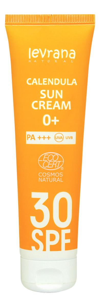 Купить Солнцезащитный крем для лица и тела с гидролатом календулы Calendula Sun Cream 0+ 100мл: Крем SPF30+ PA+++, Levrana
