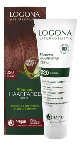 Крем-краска для волос Винный красный Herbal Hair Colour Creme 150мл