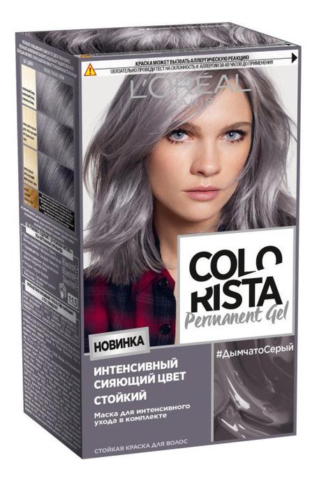 Купить Стойкая краска для волос Colorista Permanent Gel 200мл: Дымчатый серый, L'oreal