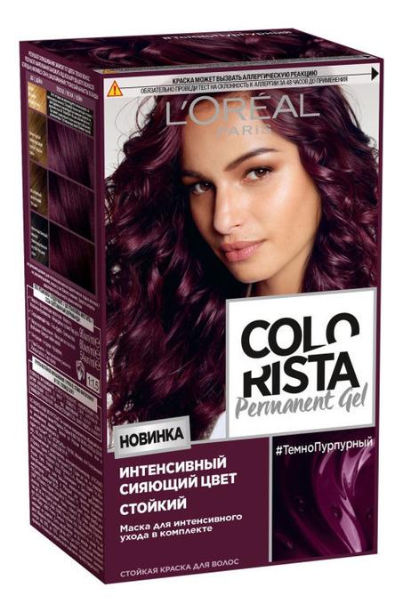 Купить Стойкая краска для волос Colorista Permanent Gel 200мл: Темно-пурпурный, L'oreal