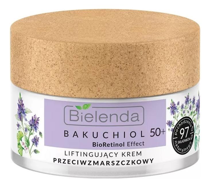 Купить Лифтинг-крем для лица против морщин Bakuchiol BioRetinol Effect 50+ 50мл, Bielenda