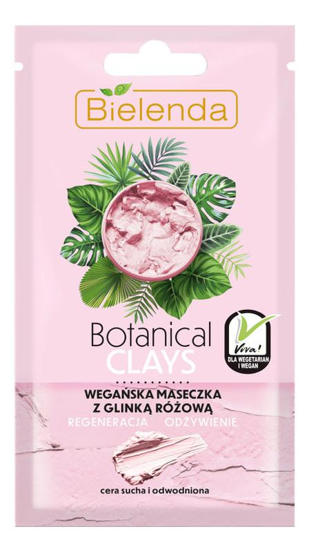 Купить Веганская маска для лица с розовой глиной Botanical Clays 8г, Bielenda