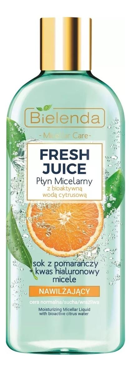 Купить Увлажняющая мицеллярная вода для лица Fresh Juice Moisturizing Micellar Liquid With Bioactive Citrus Water: Мицеллярная вода 500мл, Bielenda