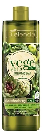 Купить Мицеллярная вода для лица Vege Skin Diet Micellar Water 500мл, Bielenda