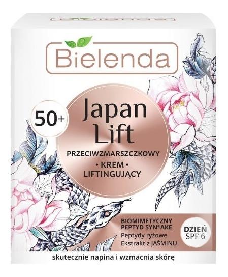 Купить Дневной лифтинг крем для лица против морщин 50+ Japan Lift SPF6 50мл, Bielenda