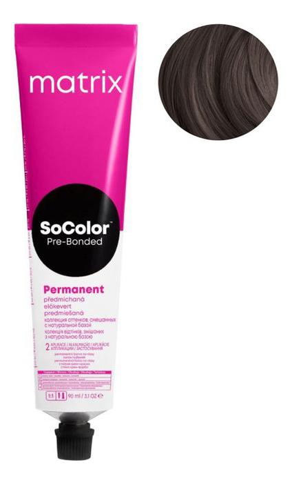 Купить Перманентная краска для волос SoColor Pre-Bonded Permanent 90мл: 4NW, MATRIX