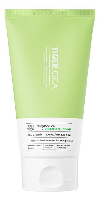 Купить Успокаивающий крем-гель для лица с экстрактом центеллы азиатской Tiger Cica Green Chill Down Gel Cream 100мл, It's Skin