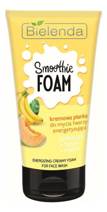 lumene for men voima energizing face wash Кремовая пенка для умывания заряжающая энергией Пребиотик + банан + дыня Smoothie Prebiotic Energizing Creamy Foam For Face Wash 135г