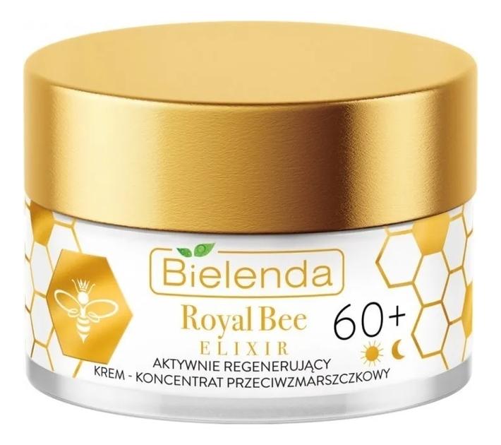 Купить Активно регенерирующий крем для лица против морщин Royal Bee Elixir Actively Regenerating Anti-Wrinkle Cream-Concentrate 60+ 50мл, Bielenda