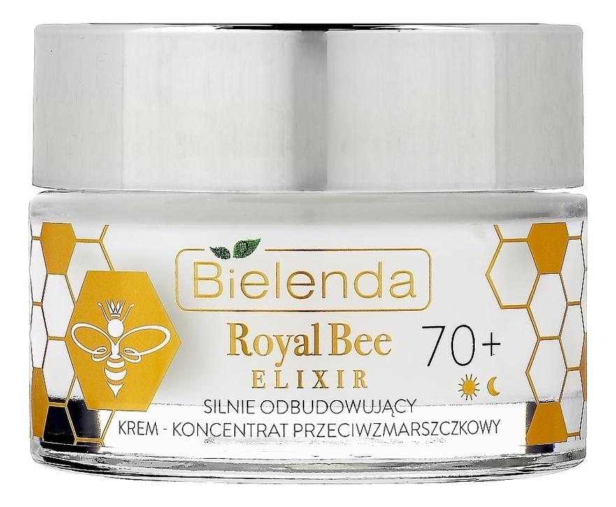 Купить Восстанавливающий крем для лица против морщин Royal Bee Elixir Strongly Rebuilding Anti-Wrinkle Cream-Concentrate 70+ 50мл, Bielenda