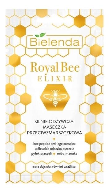 Купить Питательная маска для лица против морщин Royal Bee Elixir Strongly Nourishing Anti-Wrinkle Mask 8мл, Bielenda