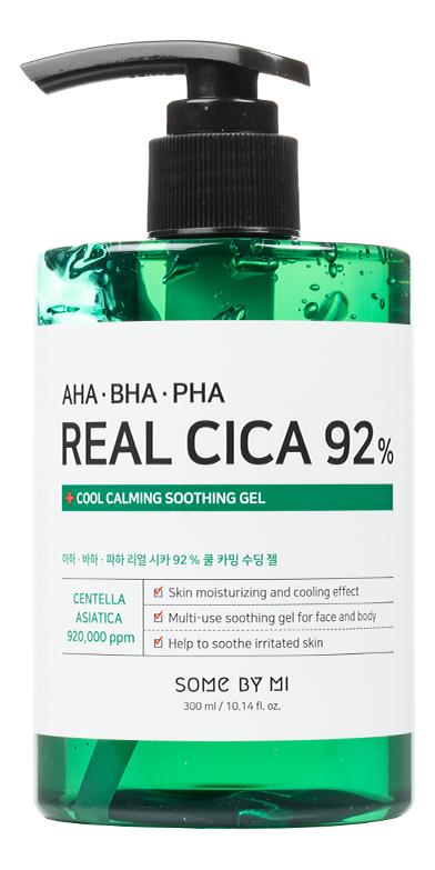 Купить Охлаждающий гель с кислотами AHA-BHA-PHA Real Cica 92% Cool Calming Soothing Gel 300мл, Some By Mi