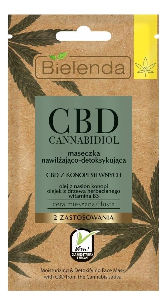 Купить Увлажняющая и детоксифицирующая маска для лица с экстрактом семян конопли CBD Cannabidiol 18мл, Bielenda