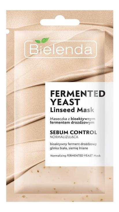 Себорегулирующая маска для лица с биоактивными дрожжами Fermented Yeast Linseed Mask 8г