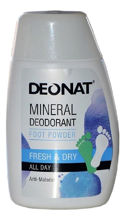Порошок-дезодорант для ног на основе аммонийных квасцов Mineral Deodorant Foot Powder: Порошок 50г