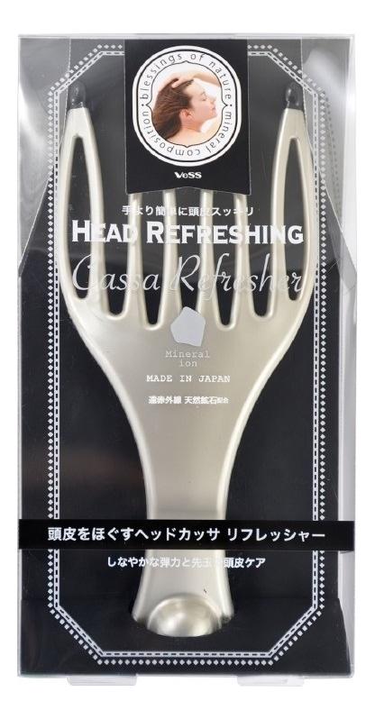 Купить Массажер для кожи головы с закругленными зубцами и природными минералами Hair Refreshing Cassa Refresher 302923, VESS