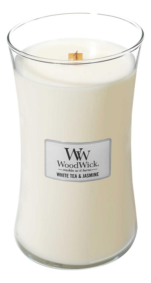 Купить Ароматическая свеча White Tea & Jasmine, Ароматическая свеча White Tea & Jasmine, WoodWick