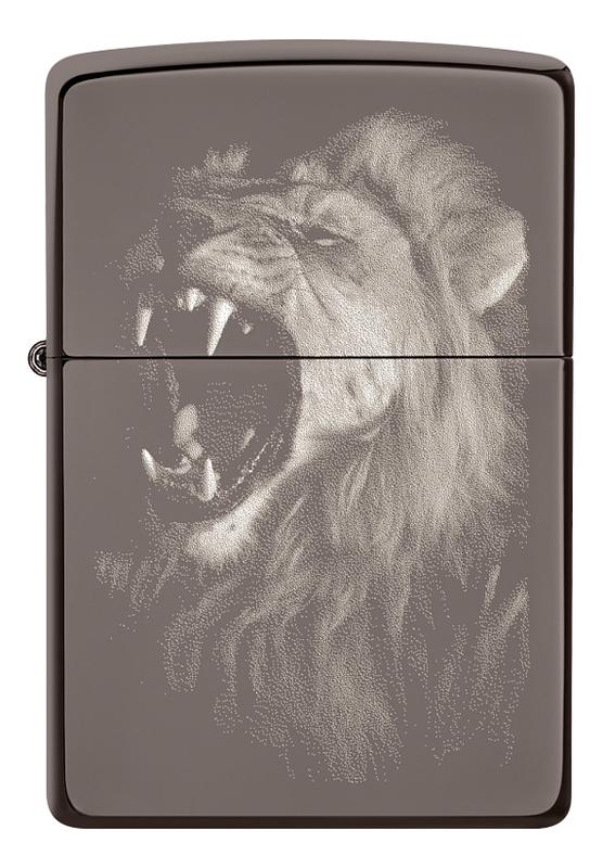 Купить Зажигалка бензиновая Lion Design Black Ice 49433, Zippo