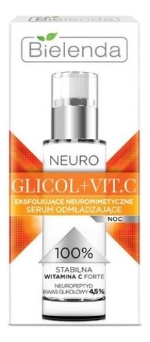 Купить Отшелушивающая ночная сыворотка для лица Neuro Glicol + Vit.C 30мл, Bielenda