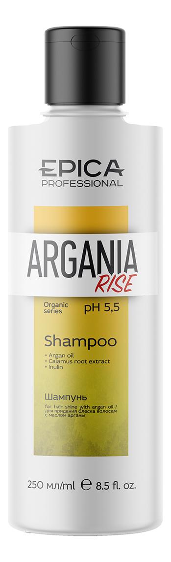 Купить Шампунь для придания блеска волосам Argania Rise Organic Shampoo: Шампунь 250мл, Epica Professional