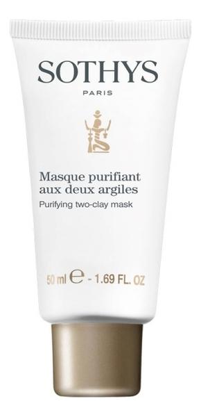 Купить Очищающая себорегулирующая маска для лица Masque Purifiant Aux Deux Argiles 50мл, Sothys