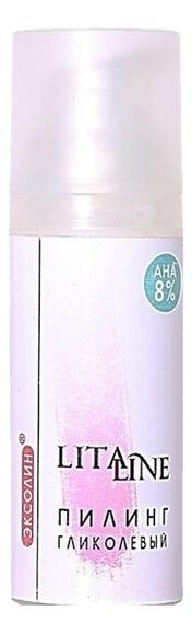 Купить Гликолевый кремовый пилинг для лица с пептидным комплексом Эксолин 50мл, Litaline