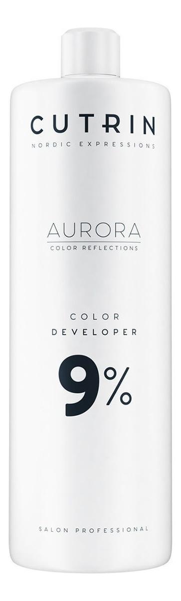 Купить Окислитель для волос Aurora Color Developer 1000мл: Окислитель 9%, CUTRIN
