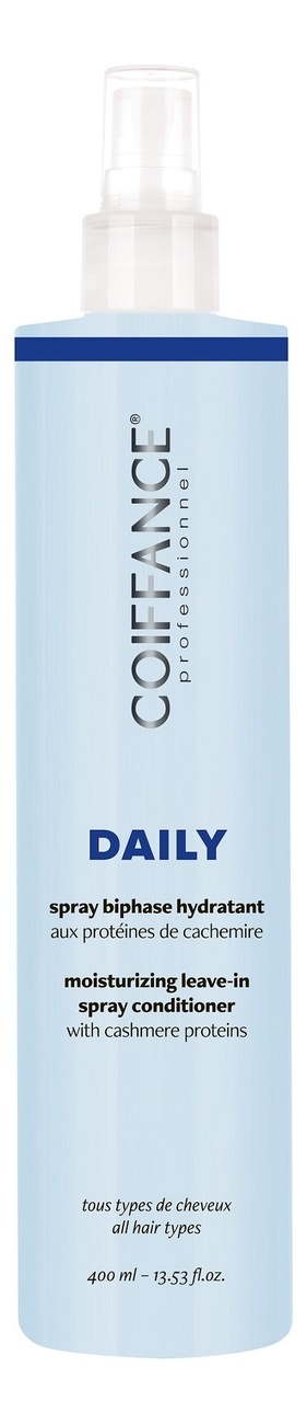 Двухфазный увлажняющий спрей-кондиционер для волос Daily Moisturising Leave-In Spray Conditioner 400мл