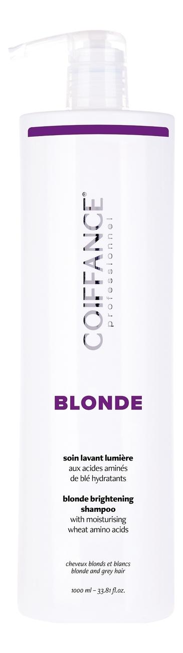 Шампунь для придания блеска светлым и мелированным волосам Blond Brightening Shampoo 250мл: Шампунь 1000мл
