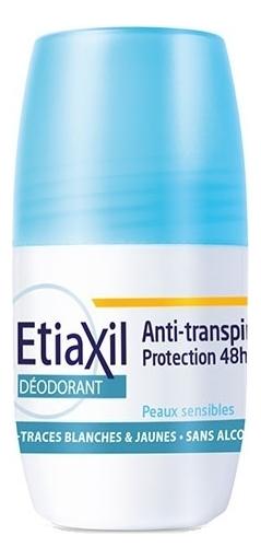 Роликовый дезодорант для чувствительной кожи Deodorant Anti Transpirant 48H Roll-On Peaux Sensibles: Дезодорант 50мл