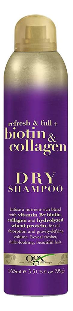Купить Сухой шампунь для волос с биотином и коллагеном Refresh & Full+ Biotin & Collagen Dry Shampoo 165мл, Сухой шампунь для волос с биотином и коллагеном Refresh & Full+ Biotin & Collagen Dry Shampoo 165мл, OGX