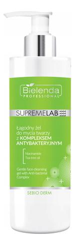 Купить Нежный гель для умывания с антибактериальным комплексом SupremeLab Sebio Derm Gentle Face-Cleansing 200мл, Bielenda Professional